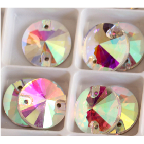 DMC Sew On rond 8mm Crystal AB