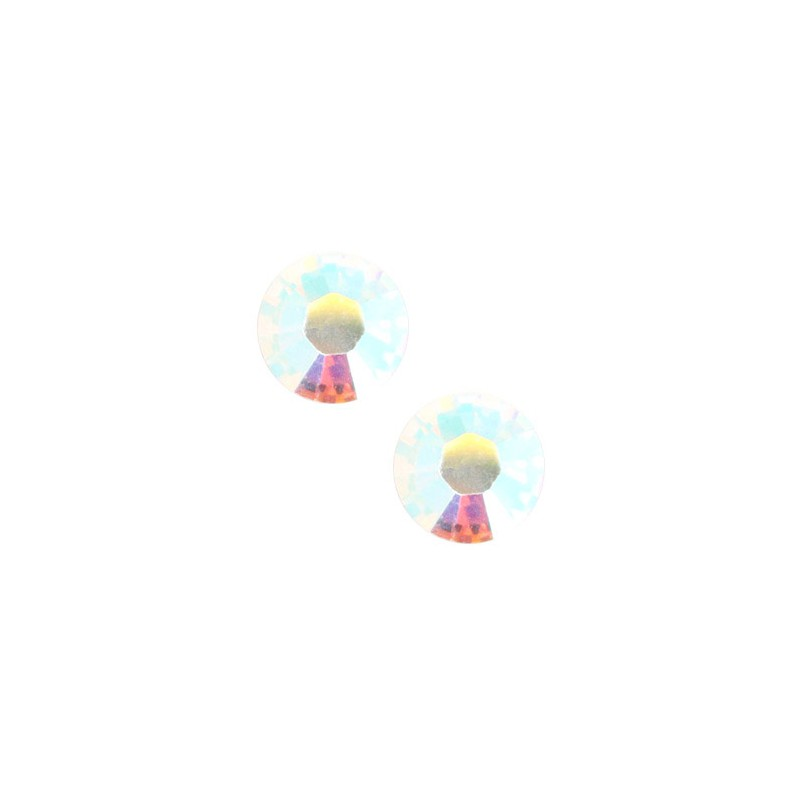 Swarovski Xilion Rose 2038 SS34 Flatback AB Crystal non hotfix