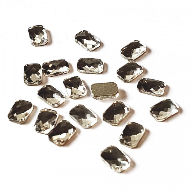 JS rechthoek 4*6mm Crystal