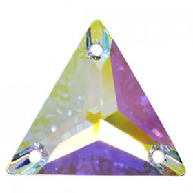 DMC Sew On Triangle 16mm Crystal AB