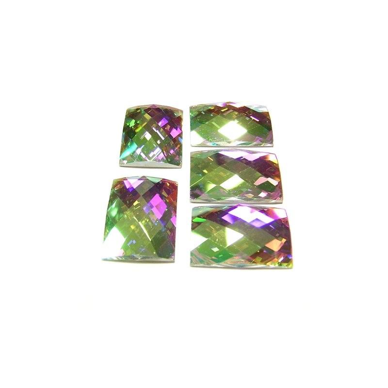 DMC Glue On Rectangle 18x25mm Crystal AB