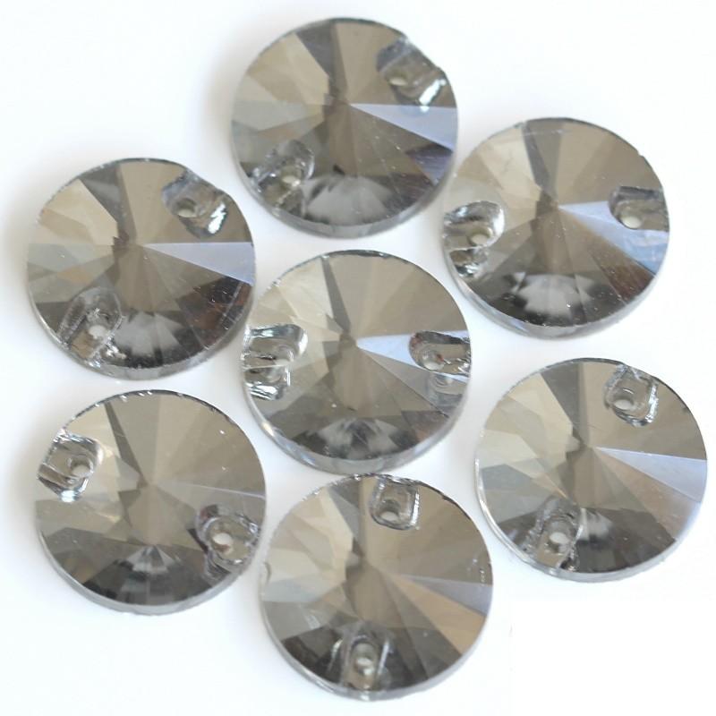 DMC Sew On rond 18mm Crystal