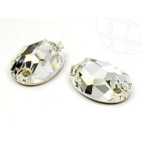 DMC Sew On ovaal 11x16mm Crystal