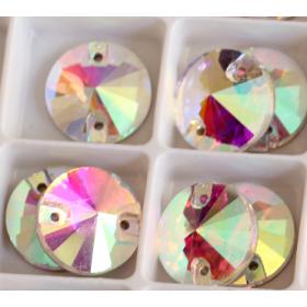 DMC Sew On rond 12mm Crystal AB