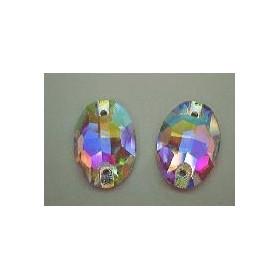 DMC Sew On ovaal 11x16mm Crystal AB