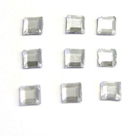 RS Square 4x4mm Crystal