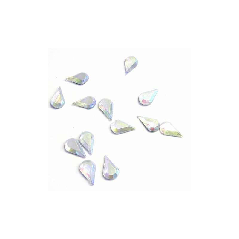 RS Drop 4x8mm Crystal AB