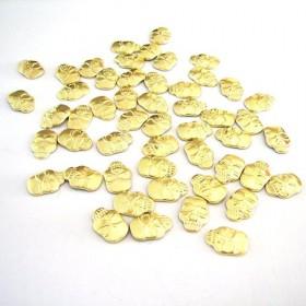 Skull 12x8mm Gold