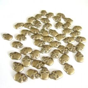 Skull 12x8mm Bronze
