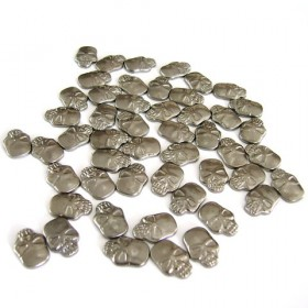 Skull 12x8mm Gunmetal